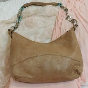 Tan Leather Hobo Bag by Etienne Aigner